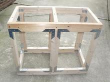 muebles de metal soporte de esquina