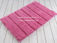 Home Floor Soft Pile Pink Bath Bedroom Carpet And Rugs Textile