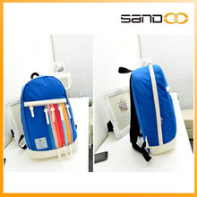 china supplier new arrival backpack korean small colored plastic zipper bags