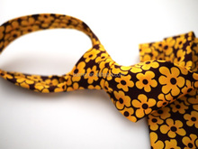 young vitality men's ties yellow and red cross flower ties