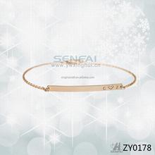 Adjustable Rose Gold Bracelet, Women Gold Bracelet