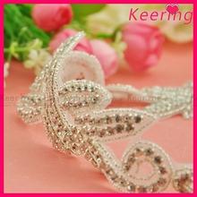 wholesale handmade bridal rhinestone applique trim belt for wedding dress belt sash WRA-749