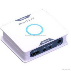 Fashionable hot selling av/rca to hdmi converter up to 1080p