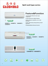 WALL MOUNTED AIR CONDITIONER R22 R410A 12000BTU 18000BTU 24000BTU