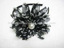 Fashion big chiffon flower pearl ornamets headband