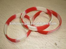 2012 hot sale personalized Canadian printed silicone bracelet for promotional gift