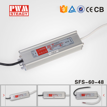 Steady CE Approved SFS-60-48 led driver 60w cctv box power supply