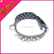 Wholesale Strong Black PU Leather Spiked Big Dog Collar