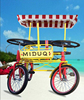 two and four people tandem bike with four wheel with CE certificate