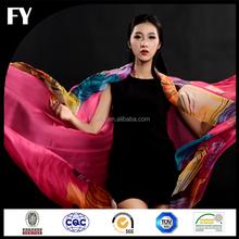 Wholesale Custom Digital Print Indian Silk Scarf Shawl