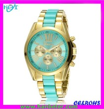 China Watch factory new style diamond geneva wrist watches made in china with japan movt