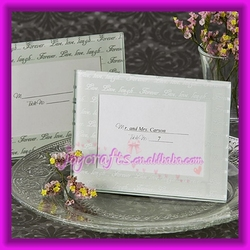 Wedding Table Decoration Live Love Laugh Frosted Mini Photo Frame and Place Card Holder