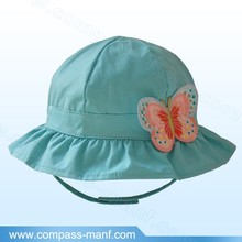 2015 Butterfly Light Blue Beach Bucket Children Hat