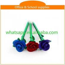 cartoon shape lovely polymer clay ball pen China make ink pen flowers