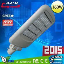 Die-Casting Aluminum high lumen high power160W solar led street light led light companies