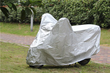 170T polyester coating silver ,cheap electric bike cover,motorcycle cover set for wholesales