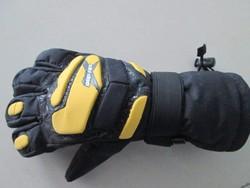 2015 Men Fashion Ski Gloves Contrast Color Silicagel Printing Pattern Honeycomb Fabric Design Mens Five Finger Gloves