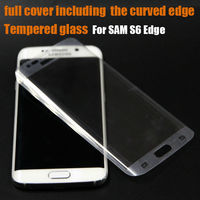 9H Real Premium Tempered Glass Screen Protector full size glass screen protector Guard For Samsung Galaxy S6 Edge