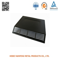 OEM Powder Coated Steel Stamping Shells Black Painting Metal CNC Punching Housings