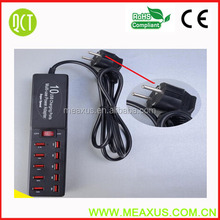 2014 Economical & Multi-functional Power Adapter for Mobile Phone with 10-USB