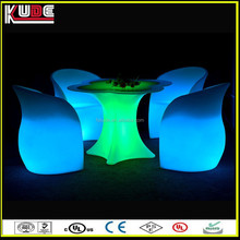 IP65 waterpfoof LED outdoor furniture garden LED plastic furniture with RGB light illuminated