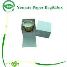 2015 hot selling creative beautiful cardboard custom handmade wax packaging boxes, candle box packaging