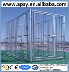 Wholesale outdoor and indoor dog kennels with gate 5'x9'x6' metal dog cage fence panels assembled galvanized steel dog house