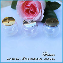 Own brand european glass bottles Glass Globe Bottle with Antique Bronzed Base and Kit for DIY Pendant