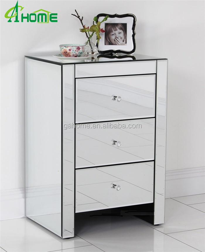 drawer mirrored bedside table lamp table mirrored bedroom furniture