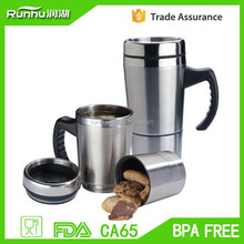 Second section cup, stainless steel mug, coffee mug with biscuit RHS301S-16