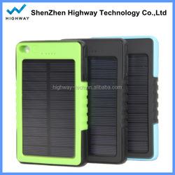 High Quality Hook Design Waterproof Solar Power Bag 8000mah Solar Panel for Digital Products