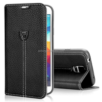 XUNDD Genuine Leather Flip Wallet Case For Samsung Galaxy S5 Case