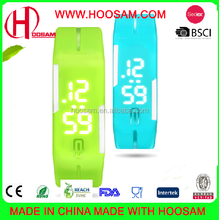 2015 price silicone digital LED wristband watch