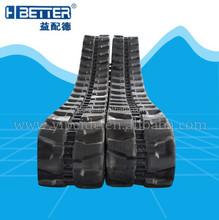 custom size rubber track for mini excavator, mini excavator rubber track