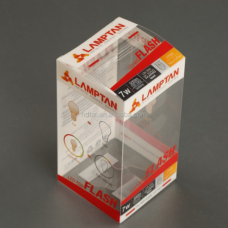 Acrylic Boxes Custom Made : Custom made plastic pvc clear packaging boxes with color
