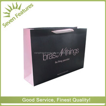 250gsm large clothing shopping bags personalized paper bag with ribbon handle