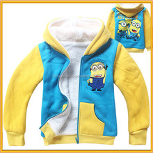 2015 New Winter Coat Despicable Me Minion Mascot Costume