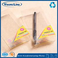Transparent plastic hard pen gift box