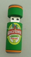 pen drive cartoon green beer beautiful silicone Bottle Can usb flash drive 8gb 16gb 32gb 64gb pendrive memory USB DISK