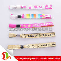 2013 new fashion custom printable fabric free wristbands by mail