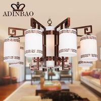 Hot sale LED E27 Copper Glass Chandelier Lamp Lustres De Suspension Classic LED Light Fixture BL8020-8