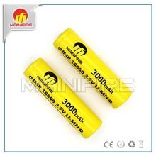 New products Mainifire 18650 3000mah 3.7v li-ion rechargeable fashlight battery