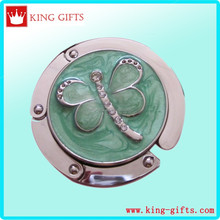 Purse hook with green butterfly