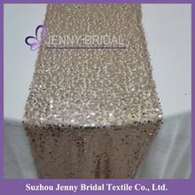 SQN#18 Jenny Bridal Modern Champagne Sequin Table Runner