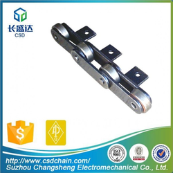 CSD,C208A/C2040, professional high intensity conveyor chain,strong Tensile Steel chain, long pitch with attachments roller chain