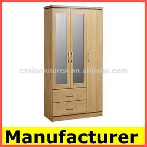 almirah خشبية ايكيا الصانع خزانة مع مرآة
