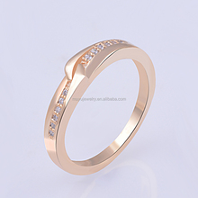 Fashion wedding engagement party 18K solid gold ring