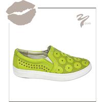 fresh light green color women casual shoes