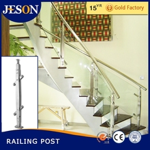 stainless steel glass handrail, stair railing post and fitting