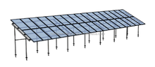 Commercial Solar PV mounting system with screw pile